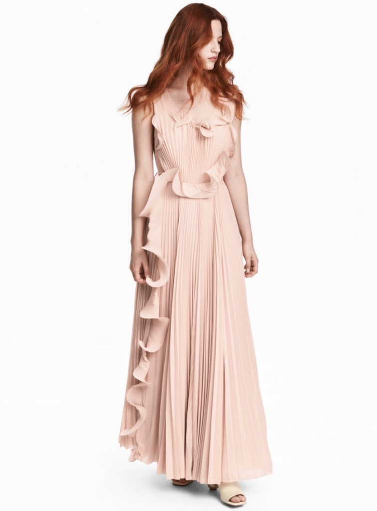 H&M Conscious Collection Pleated Wedding Dress