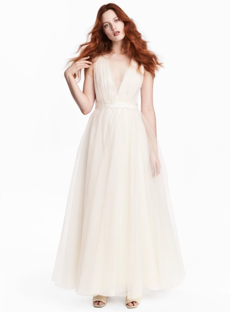 H&M Conscious Collection Tulle Wedding Dress