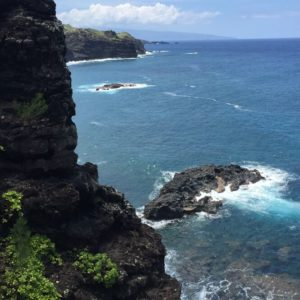 Cliff Views along Kahekili Highway in Maui