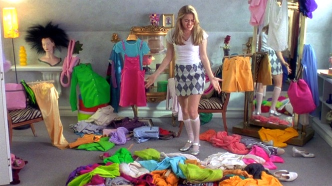 Messy closet from Clueless.