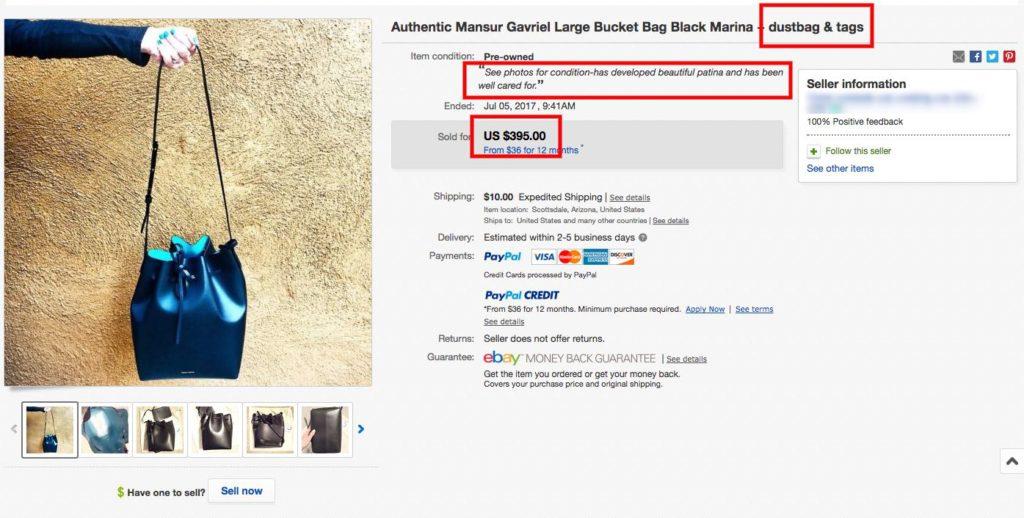 Mansur Gavriel Black Bucket Bag eBay Listing