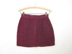 Vintage Purple Linen Skirt