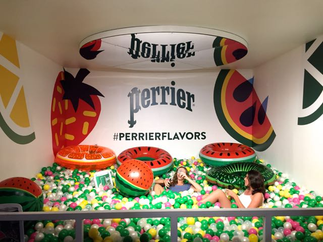 Perrier Pop Up ball pit in NYC