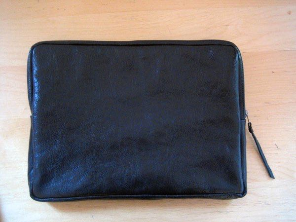 Handmade leather laptop case