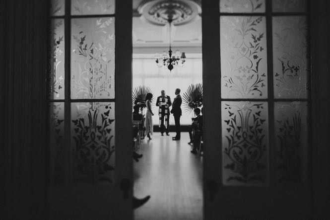 NYC Wedding Ceremony at Brownstone Restaurant