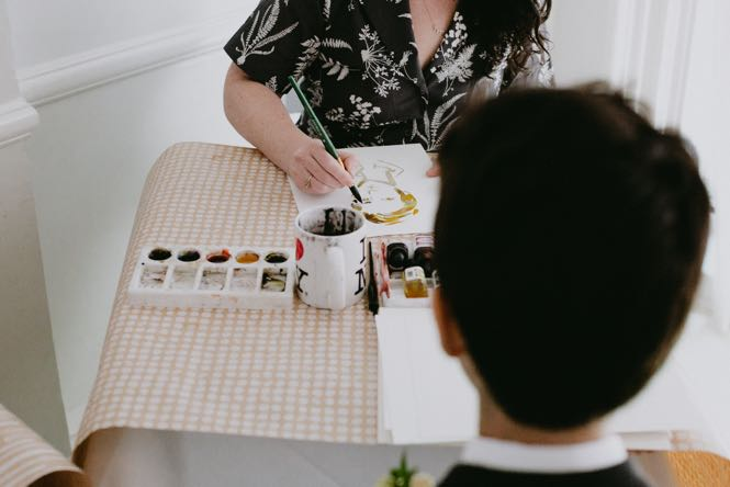 Live Painting Portraits as a Wedding Favor