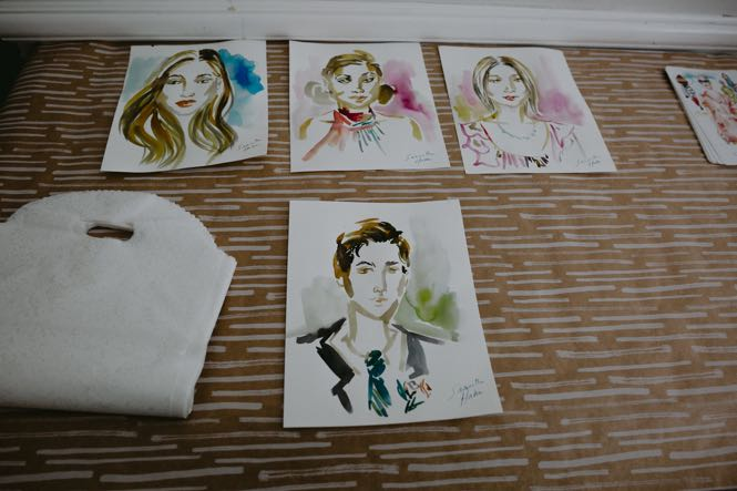 Guest Portraits - Wedding Favors