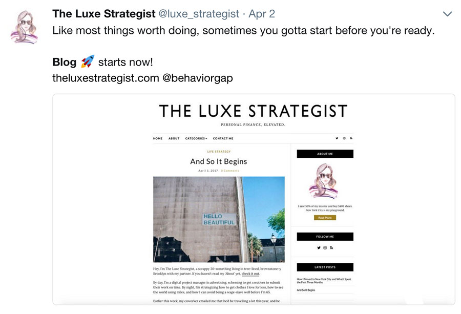 The Luxe Strategist Blog Launch
