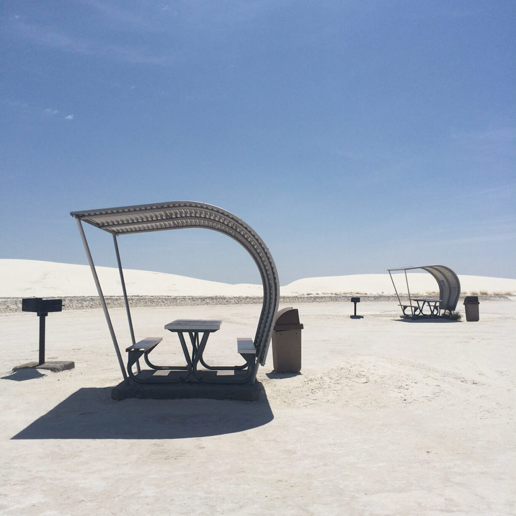 White Sands Picnic Tables