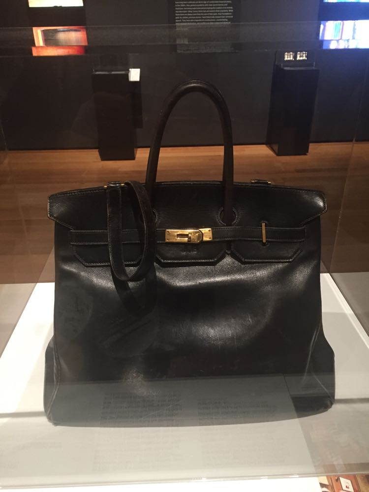 Hermes Birkin bag from MOMA's fashion exhibit