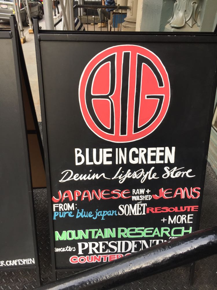Blue in Green denim store