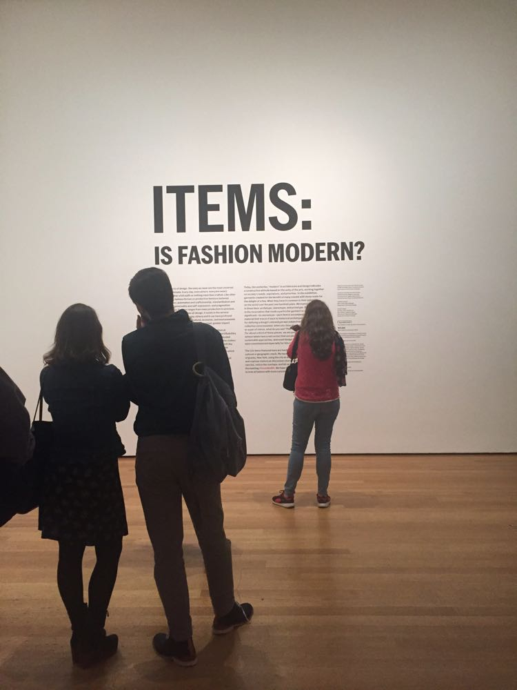 "MOMA ""Is Fashion Modern?"" Exhibit"