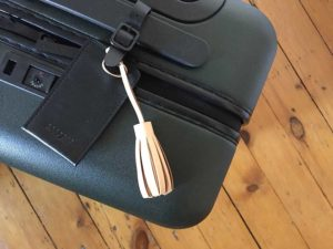 Leather tassel on Away suitcase