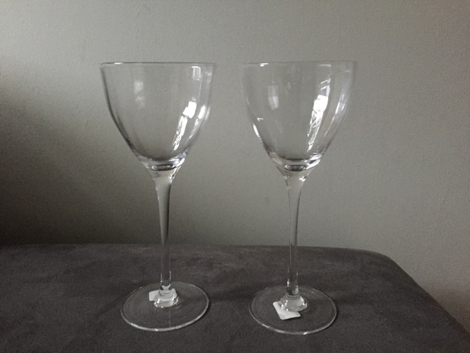 CB2 White Wine Glasses