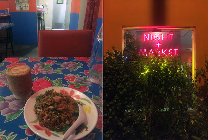 Night + Market crispy rice salad in Los Angeles