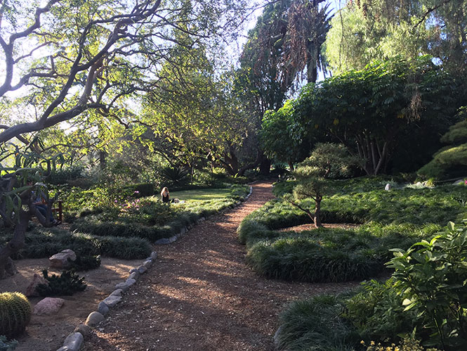 Self Realization Center garden in San Rafael