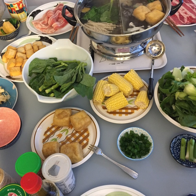 Chinese hot pot lunch party