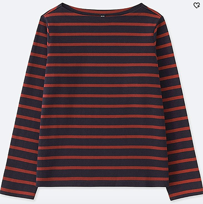 Uniqlo Striped Boatneck Shirt