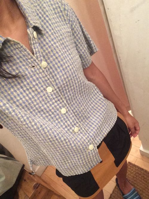 Vintage Woolrich gingham button-down shirt