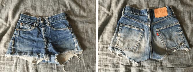 Vintage Levi's 505 denim cutoff shorts