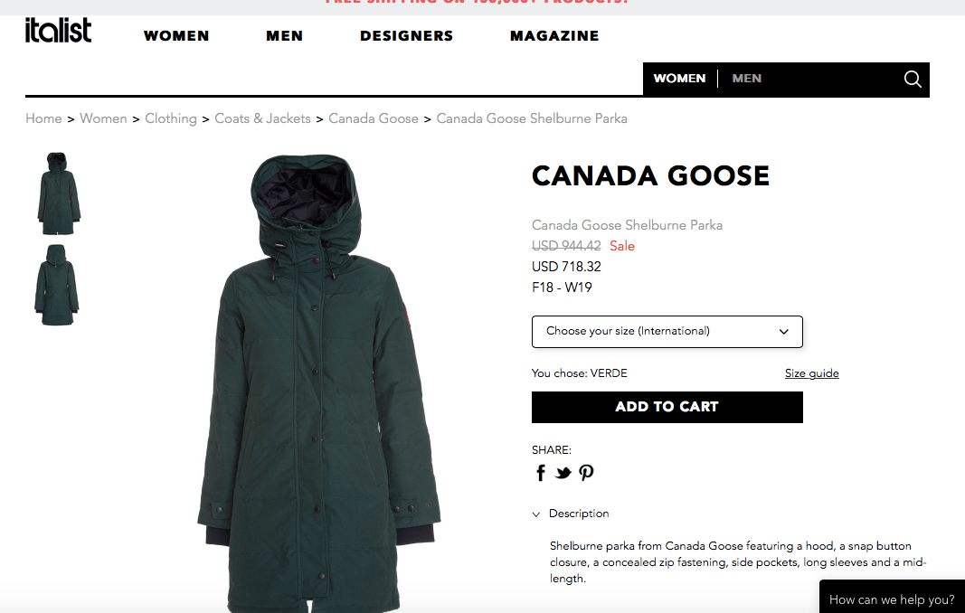Canada Goose Shelburne Jacket on Sale
