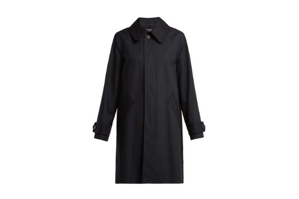 A.P.C. Navy Trench Cabourg Coat