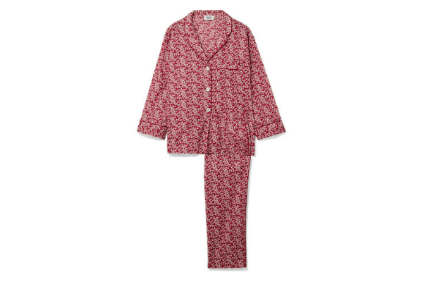 Sleepy Jones Marina Floral-Print Pajamas