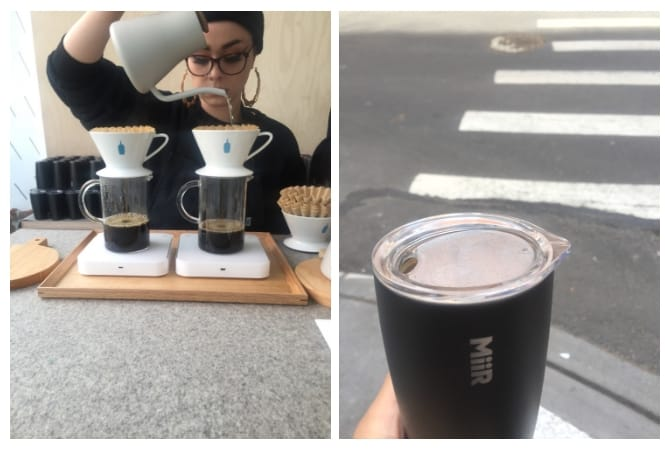 Blue Bottle Coffee at the Everlane x Miir event
