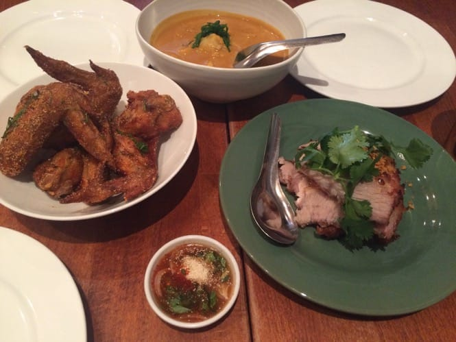Fish Cheeks in NYC: Crab coconut curry, fried chicken wings, pork cheeks