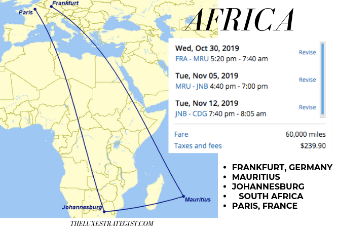 United's Excursionist Perk - Africa Itinerary