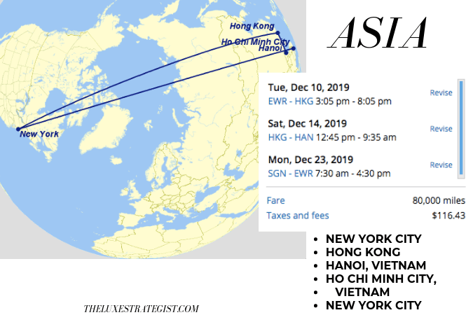 United's Excursionist Perk - Asia Itinerary