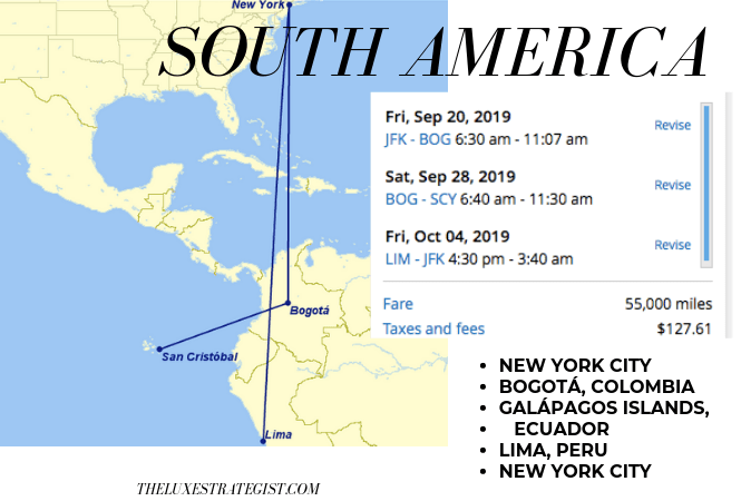 United's Excursionist Perk - South America Itinerary