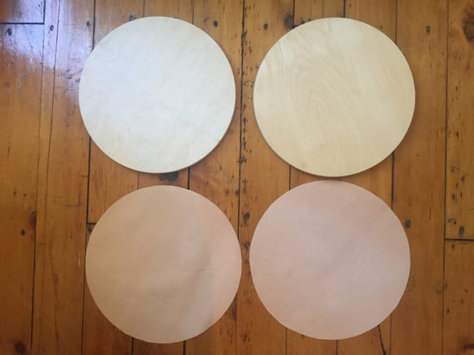 Ikea Frosta Hack - Cut Out Leather Circles
