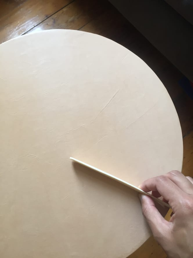 Ikea Frosta Hack - Smoothing the Leather