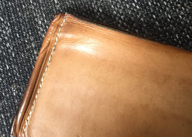 Vegetable Tanned Leather Wallet Patina