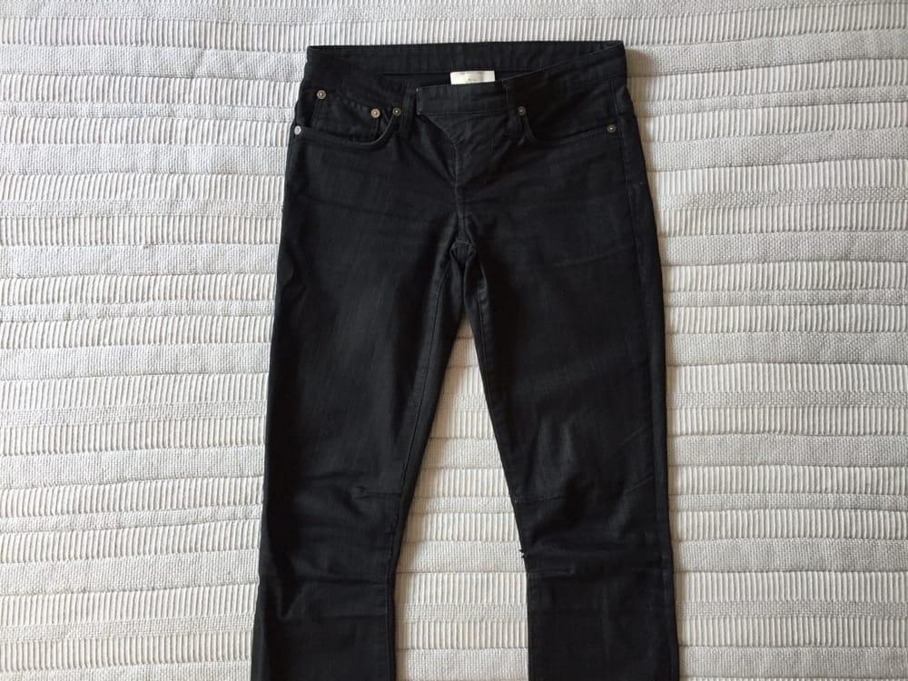 Helmut Lang Black Denim Skinny Jeans