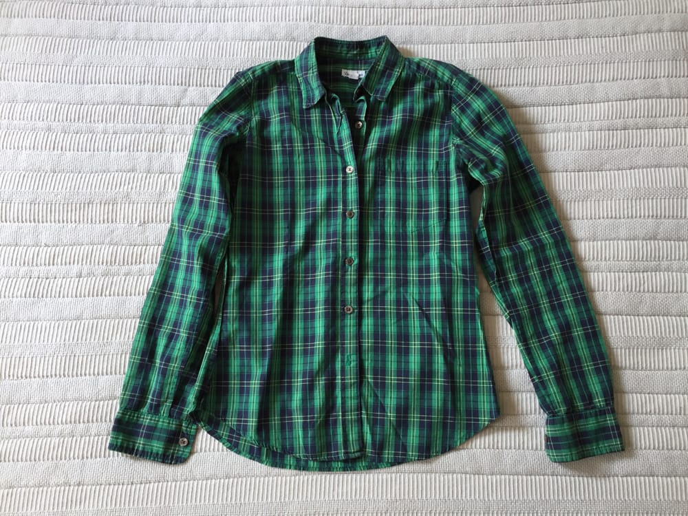 Steven Alan Green Plaid Shirt
