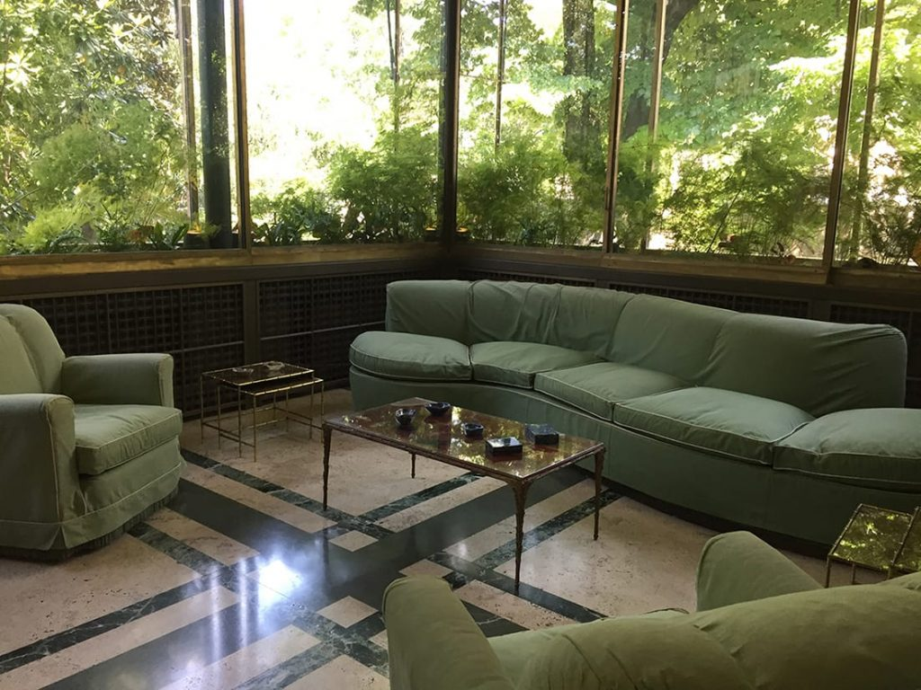 Villa Necchi garden room in Milan