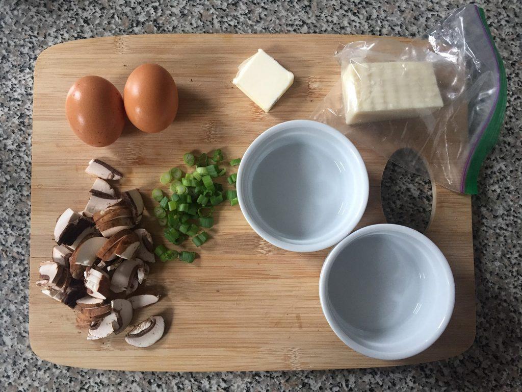 Baked eggs ingredients