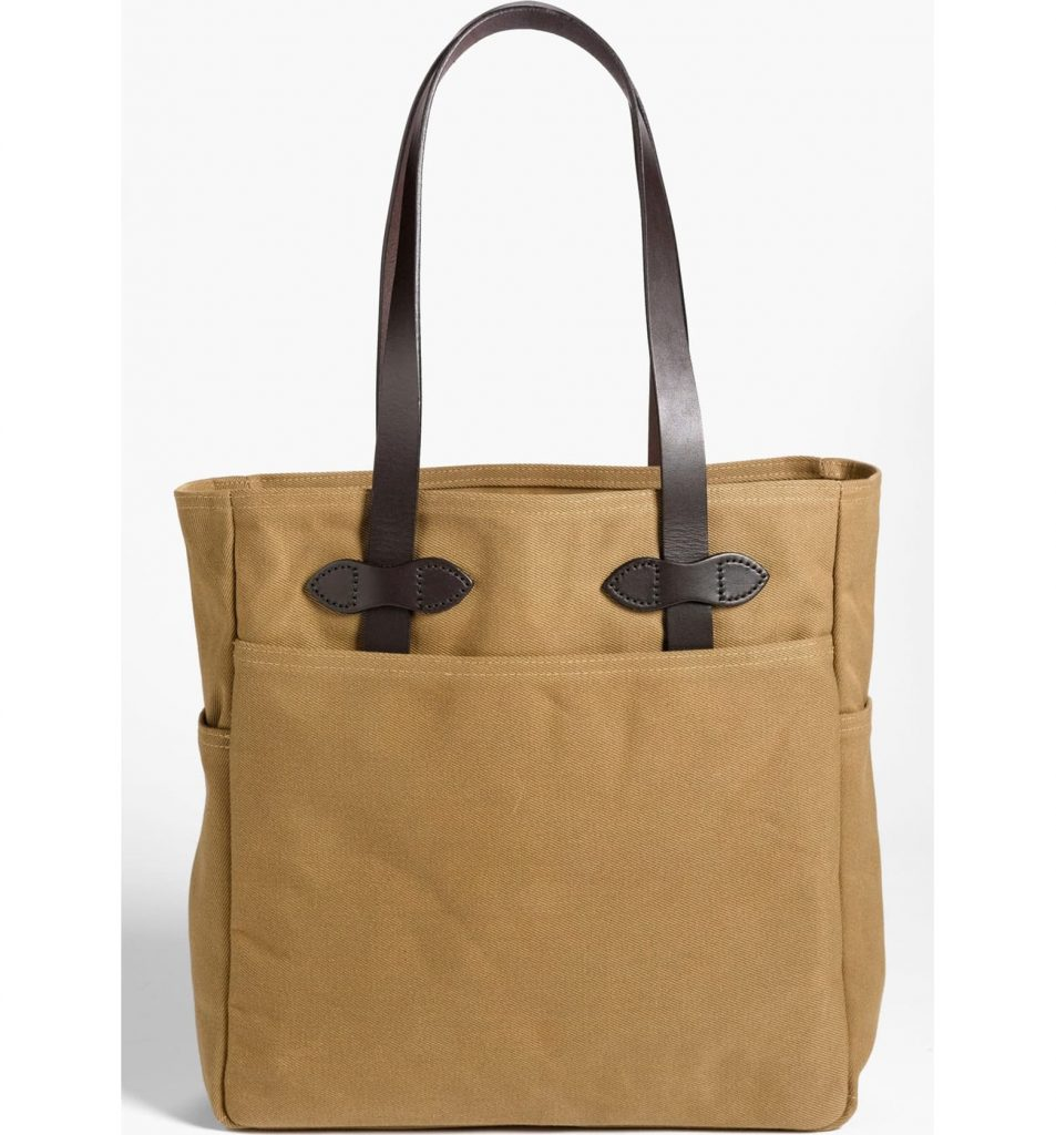 Filson Rugged Twill Tote Bag in Sepia