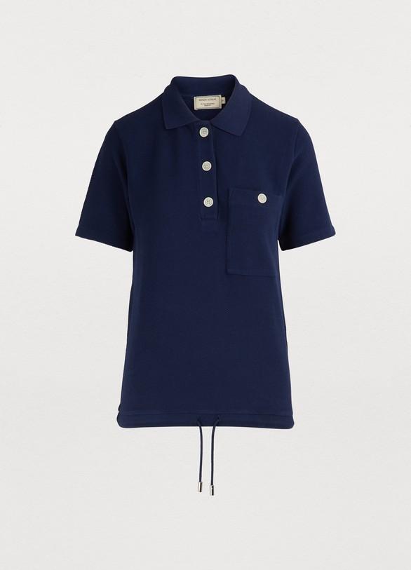 Maison Kitsune Drawstring Polo Shirt