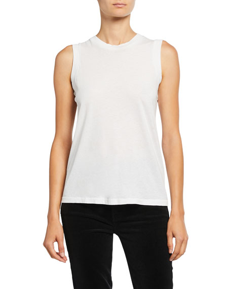 Re/Done White Muscle Tank Top