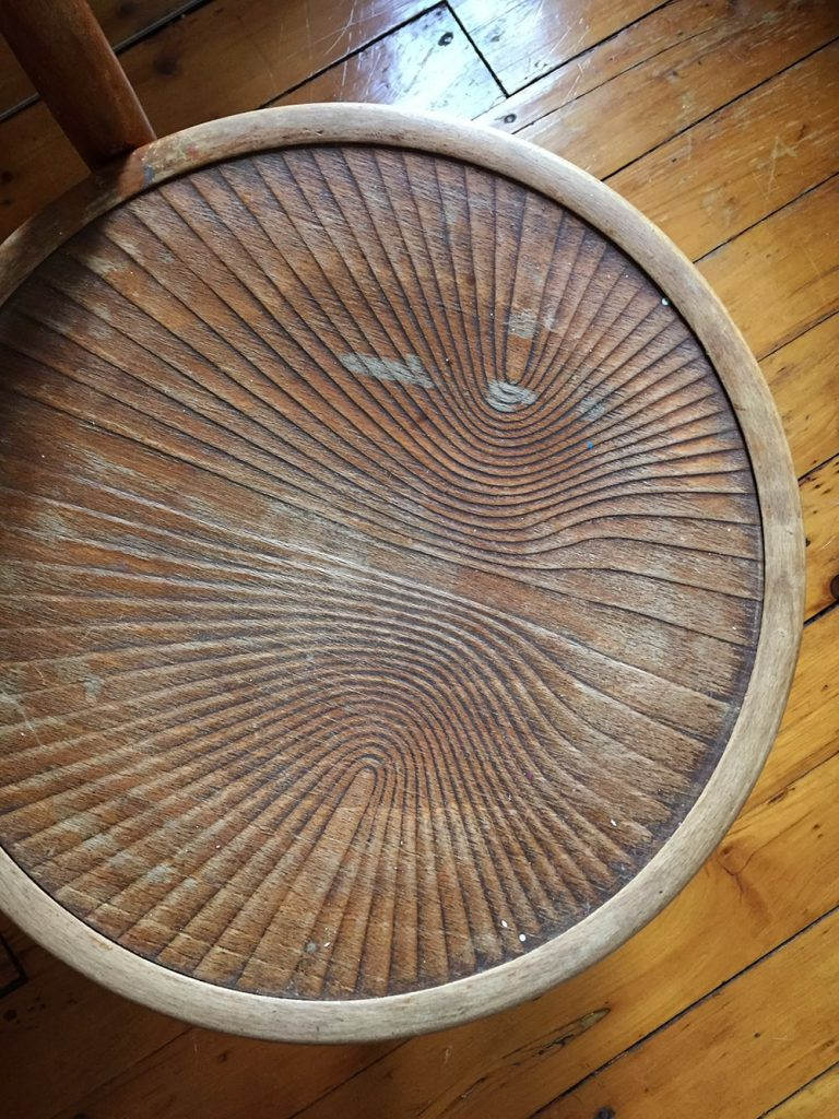 Antique Thonet Chair with Swirl Pattern