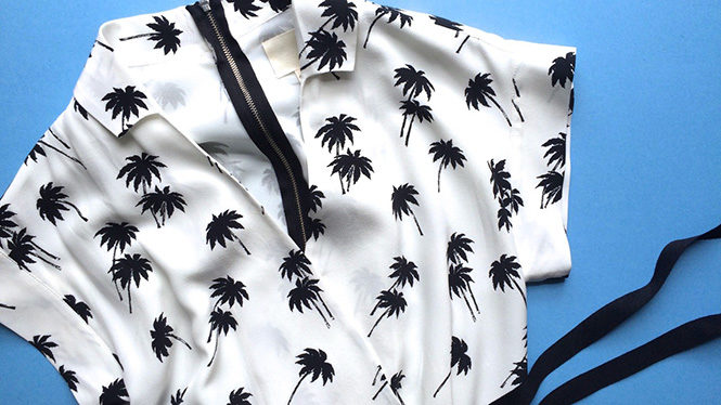 Band of Outsiders Palm Tree Dress