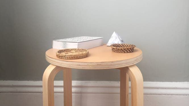 IKEA Frosta DIY Hack: Leather Nightstand